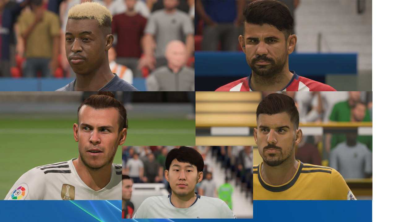 Nuevos modelos de caras en FIFA 19