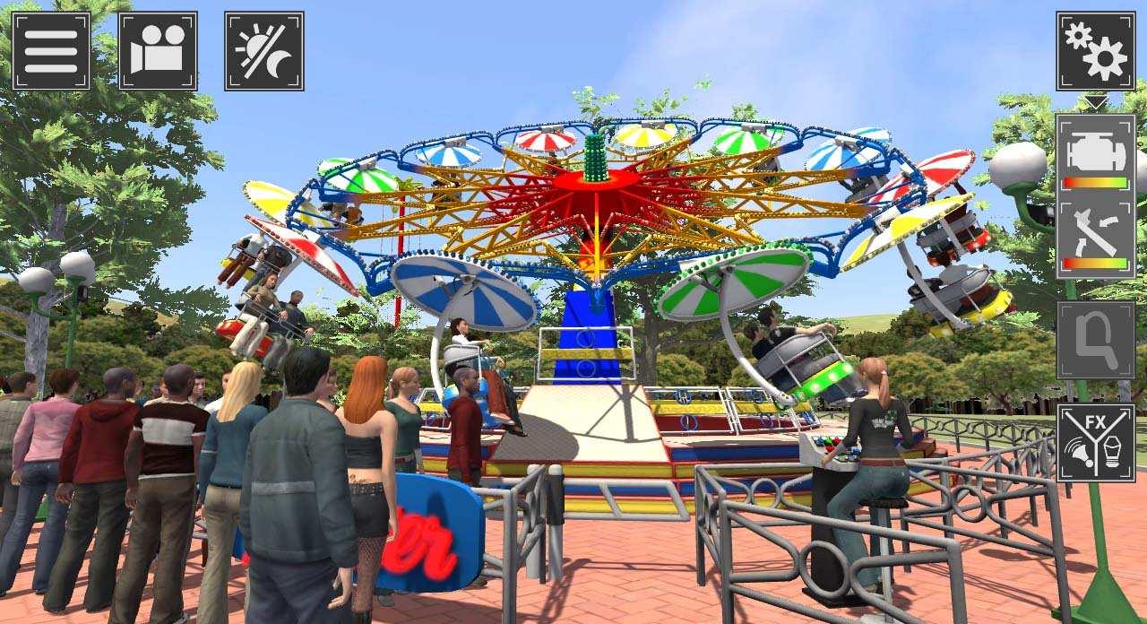 Theme Park SImulator Atracciones