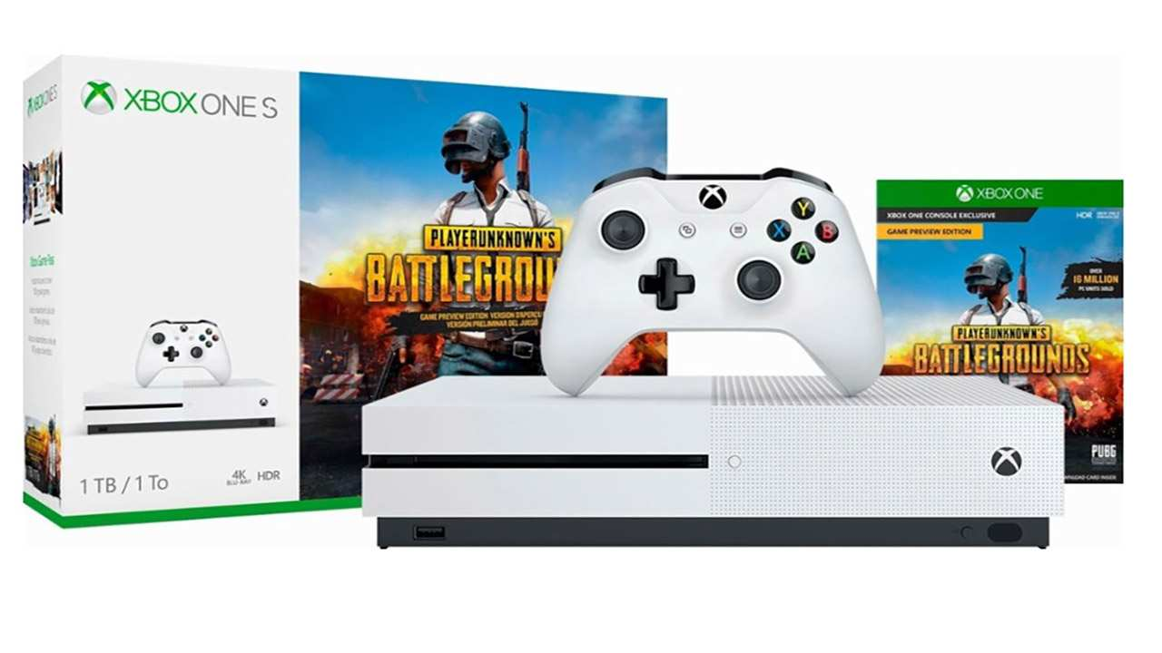 microsoft anuncia el pack de xbox one s junto con pubg. Black Bedroom Furniture Sets. Home Design Ideas
