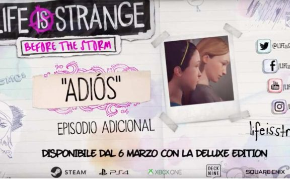 episodio extra adios life is strange before storm