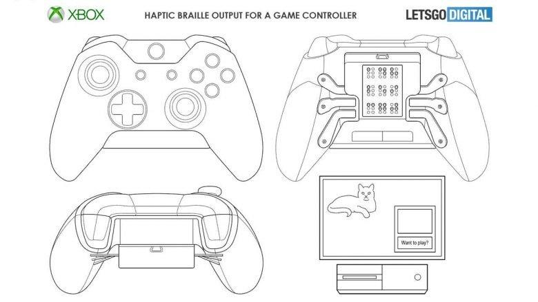 Microsoft Xbox mando braille