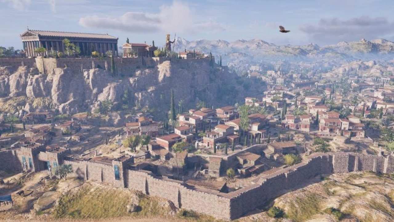 Modo de juego educativo que permite a los jugadores descubrir y explorar el mundo de Assassin's Creed Odyssey sin conflictos ni limitaciones de juego.